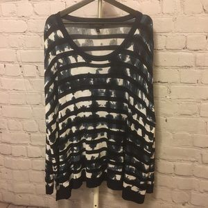Lane Bryant Sweaters - Tie dyed striped sweater